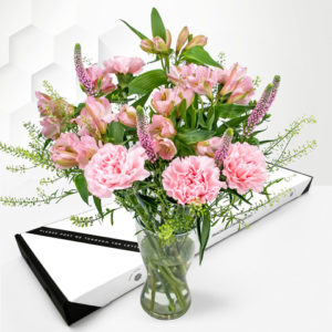 Pretty Pastels - Letterbox Flowers - Pink Letterbox Flowers - Next Day Letterbox Flower Delivery